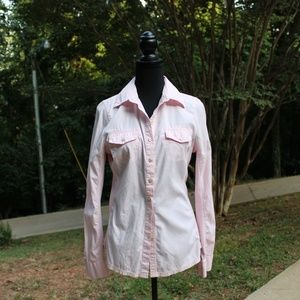 Soft Pink Converse Button Down